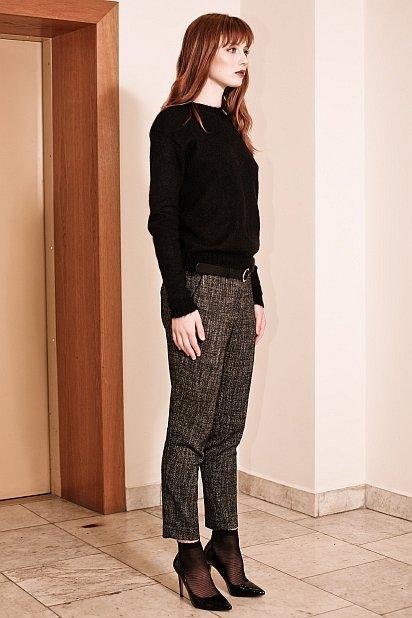 Black kidmohair sweater pullover ADELE
