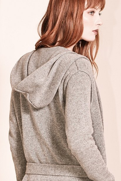 Grey cashmere women's cardigan EDITH