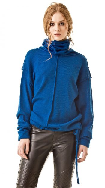 Blue turtleneck sweater AMELIE
