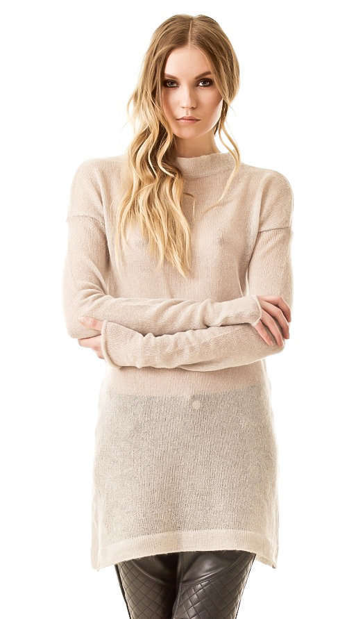 Beige mohair sweater dress BRIGITTE B