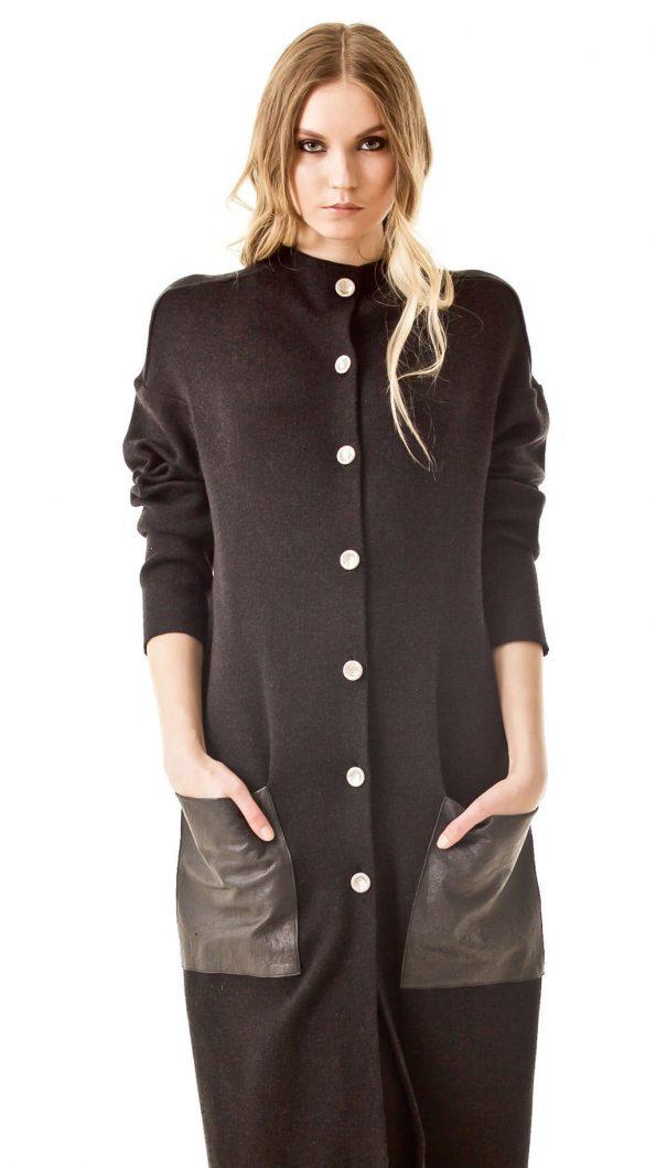 Black oversized coat JENNIFER