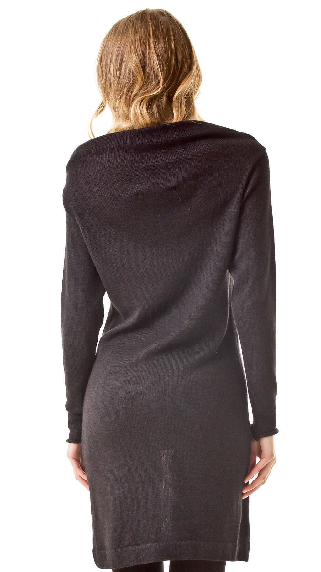 Black draped dress PATRICIA