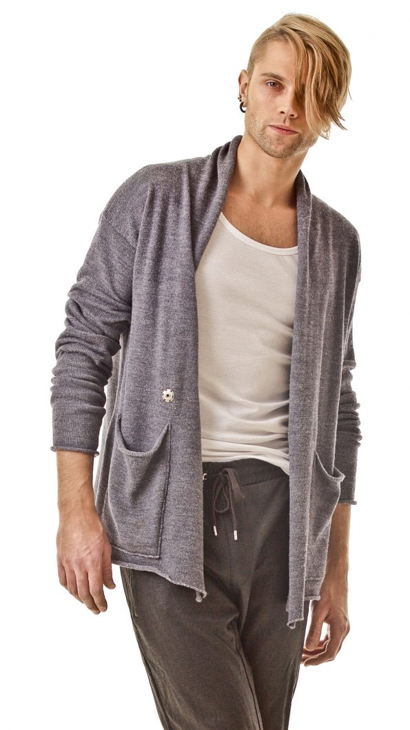 Shawl collar mens cardigan PHILIPPE
