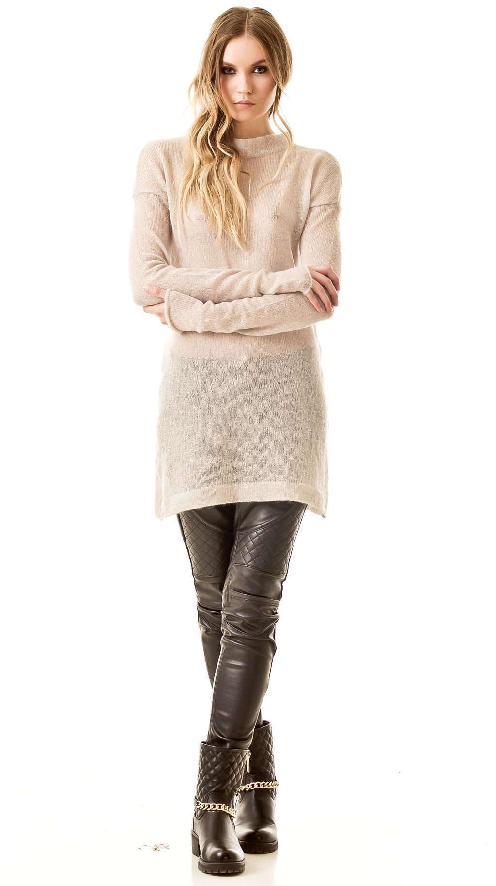 Beige mohair sweater dress BRIGITTE B