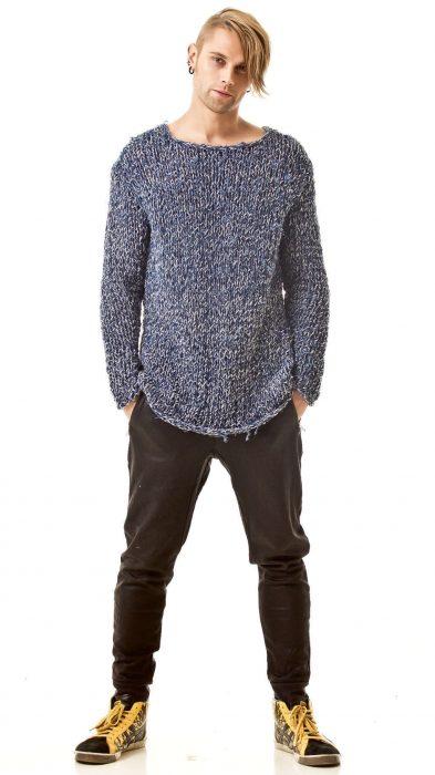 Men's sweater CHRISTOPE | Color: denim