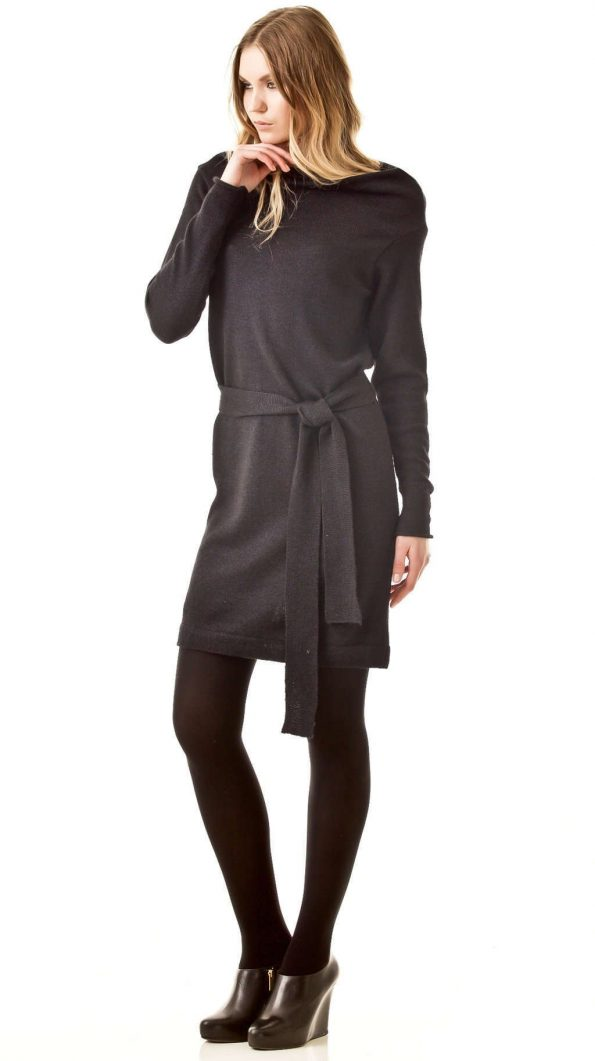 Black draped dress PATRICIA