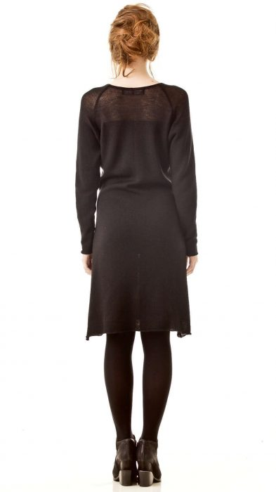 Knitted cashmere blend knee length dress CARLA