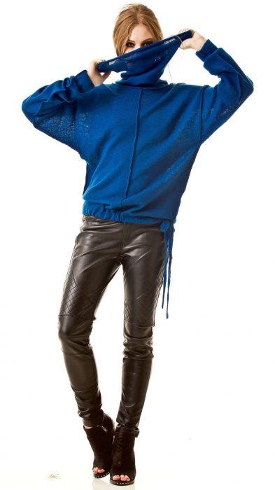 Blue turtleneck sweater AMELIE