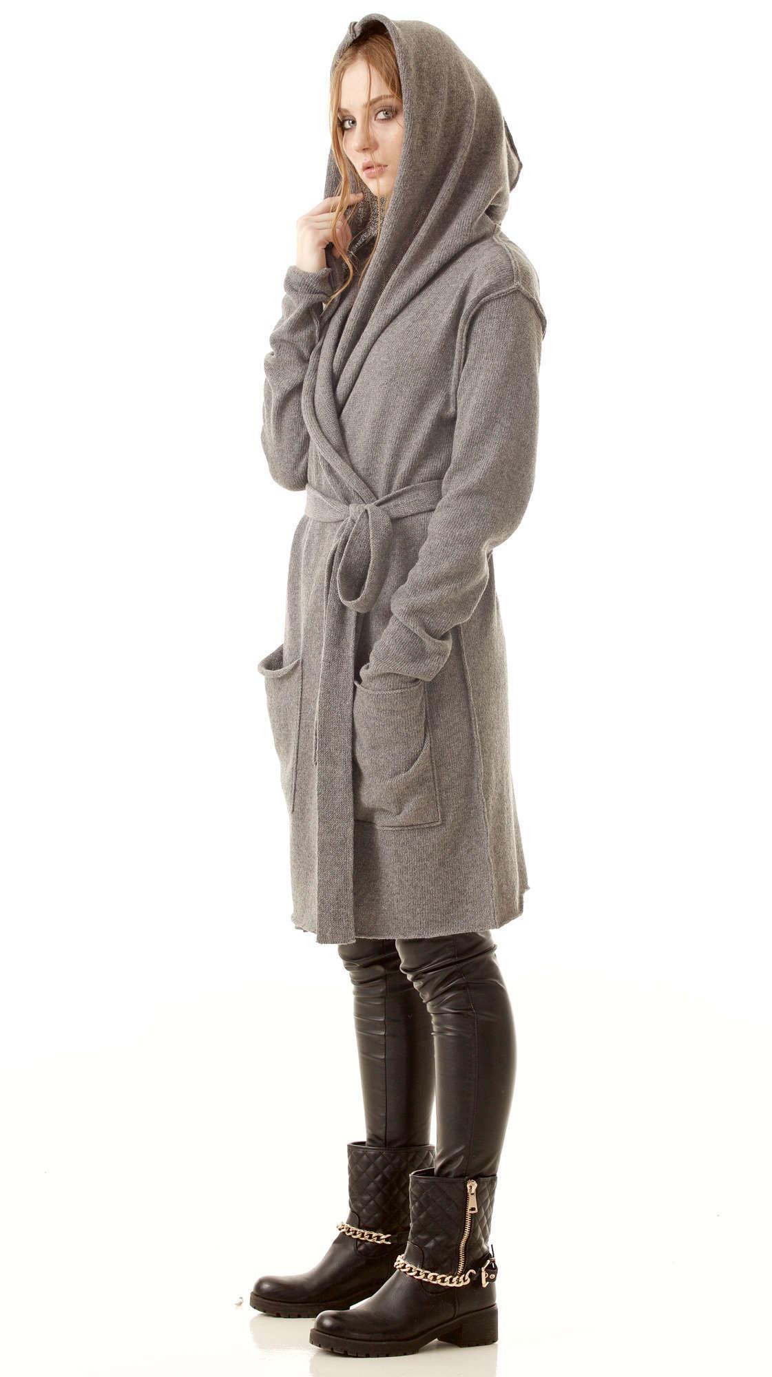 grey long cashmere womens cardigan edith. Black Bedroom Furniture Sets. Home Design Ideas