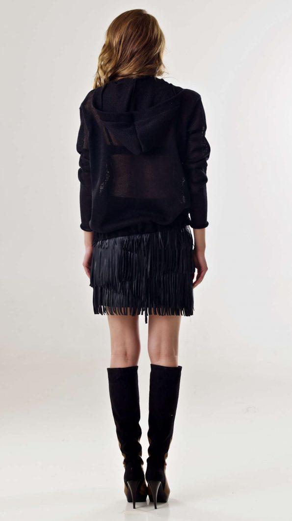 Black linen cardigan Mylene
