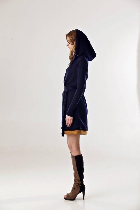 Womens open front nav cardigan hoodie SOPHIE