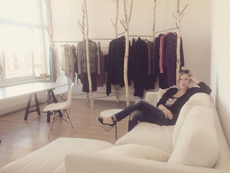 Krista Elsta Knitwear showroom.
