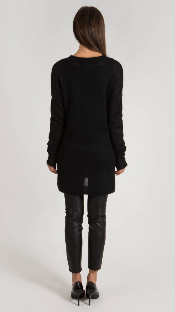 Black sweater dress ANDREA