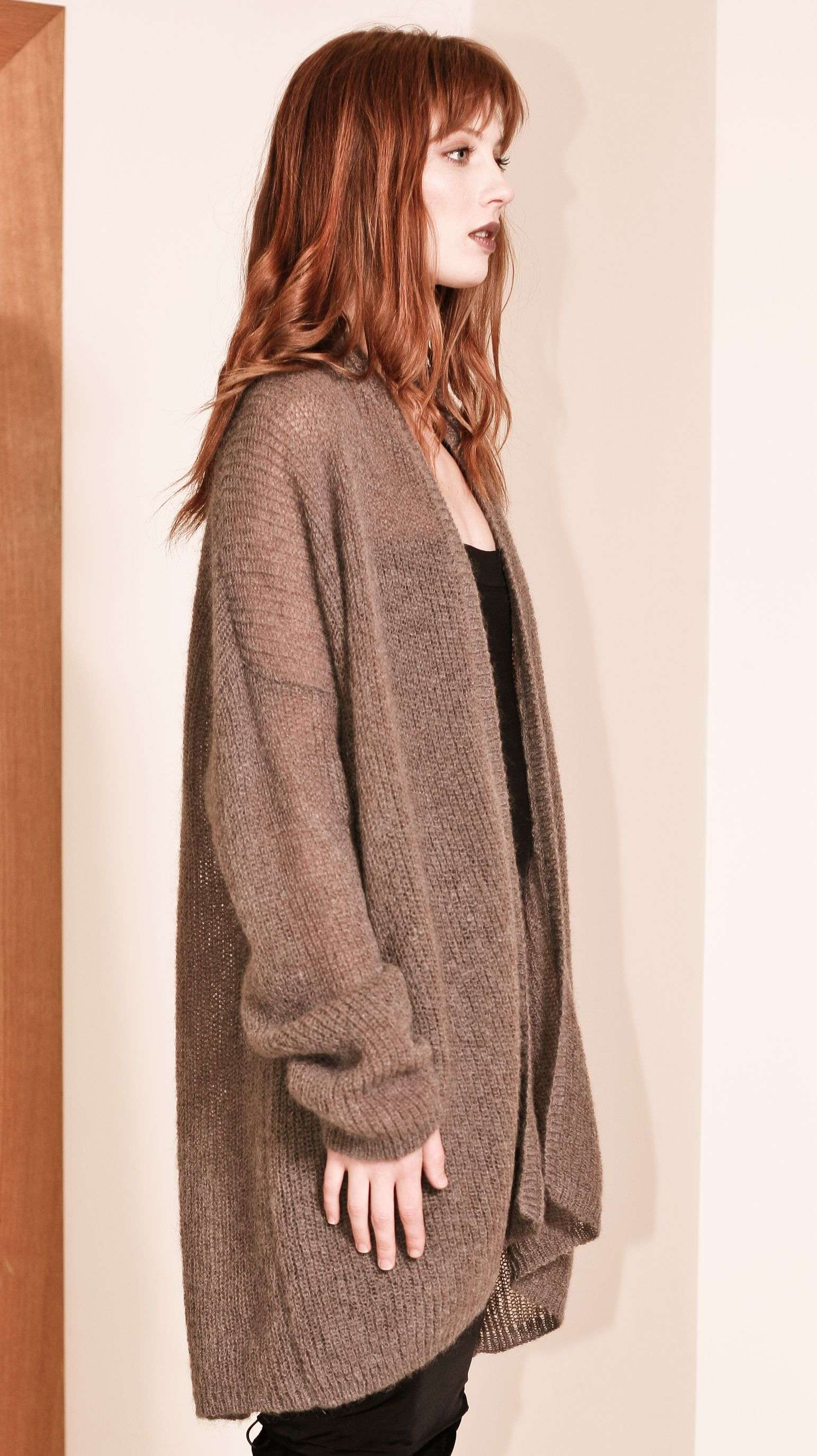 Chunky ribbed mohair cardigan NOELLE
