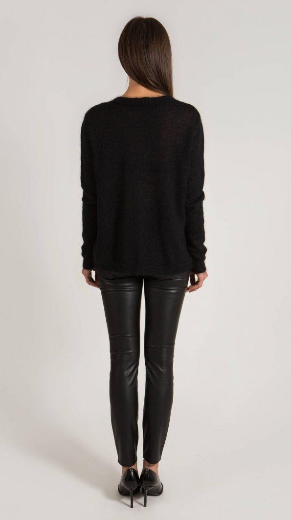 Black V neck sweater KEITH.