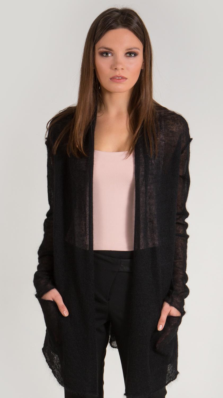 ac2927aae1b4a9 Black sheer long mohair cardigan anabelle krista elsta jpg 841x1500 Black  sheer cardigan