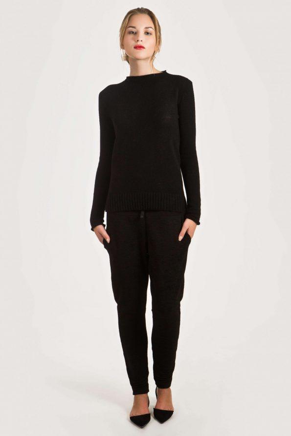 black cashmere jumper womens