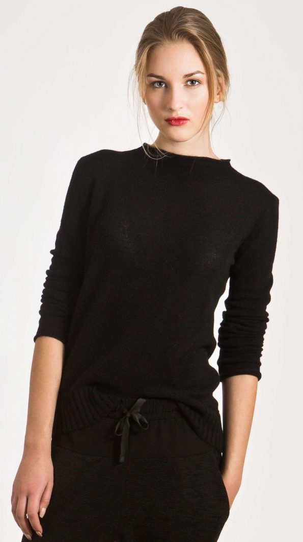 black cashmere womens sweater jumper