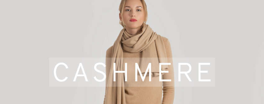 Cashmere cardigans, sweaters, scarves