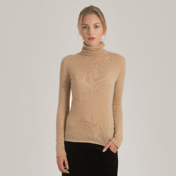 New arrivals: Women's cashmere turtleneck sweater MARGO