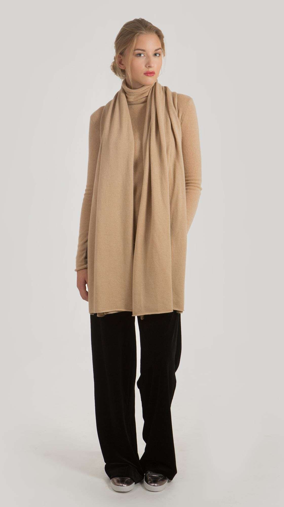 Camel cashmere scarf ALEX