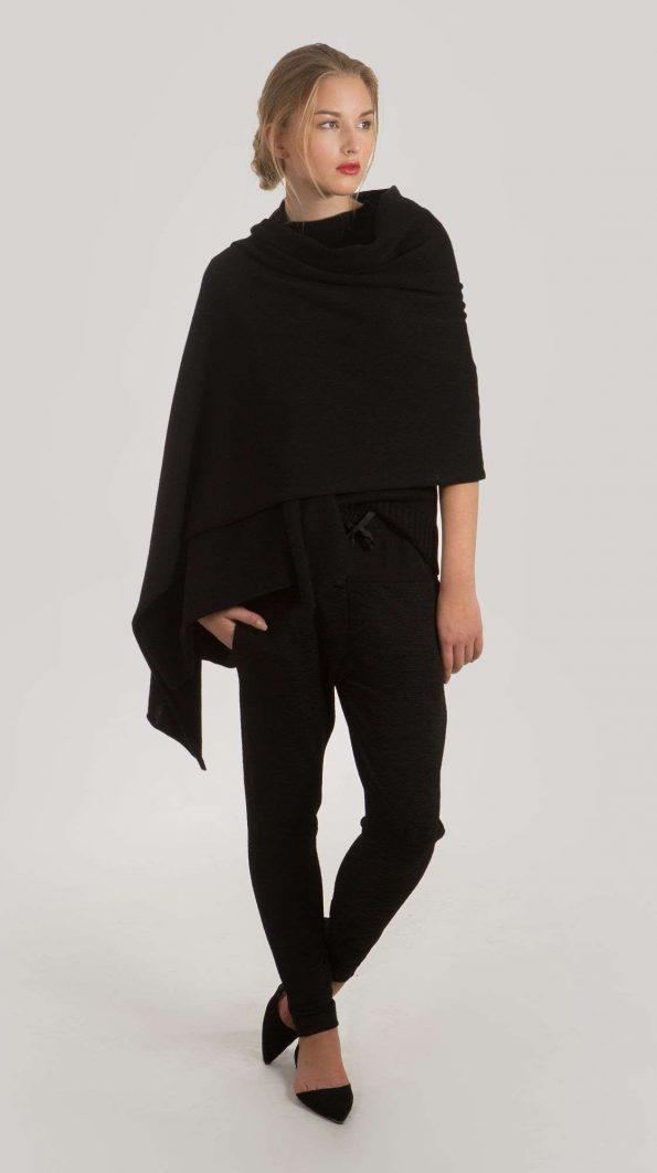 Black cashmere scarf KIM