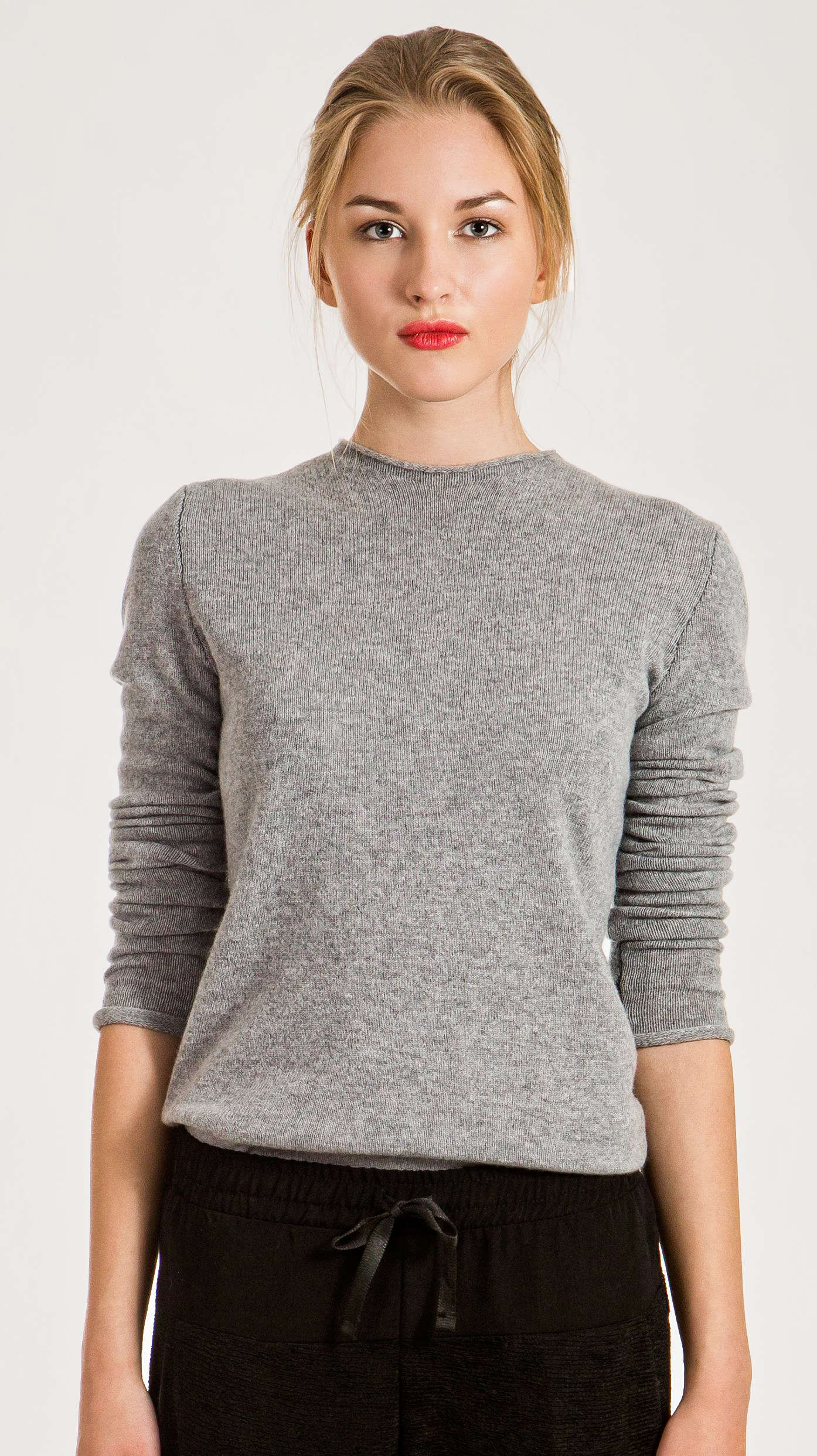 Women's cashmere crewneck sweater KAREN