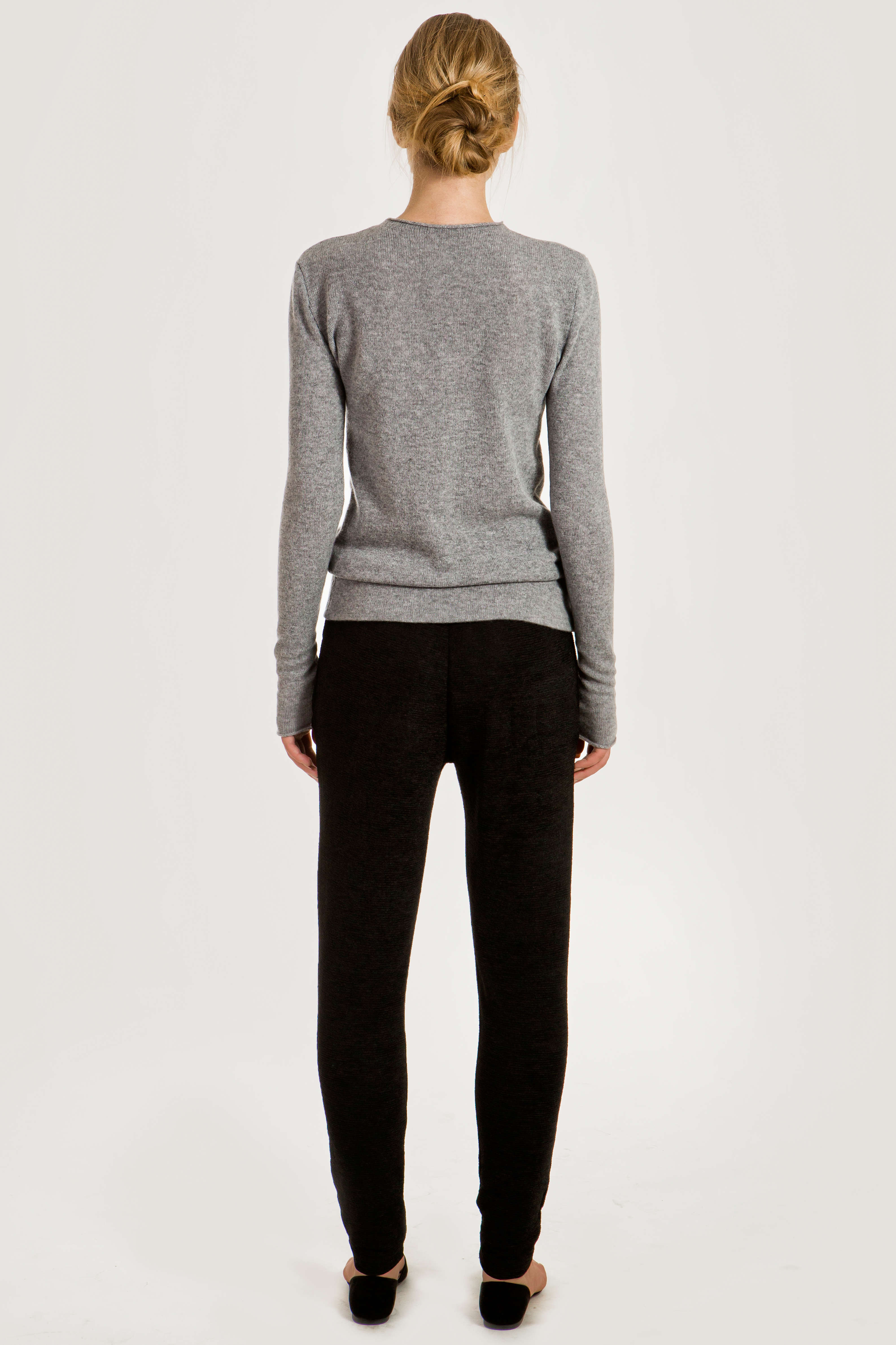 finest selection 4d91a 47655 Grey cashmere crew neck sweater KAREN
