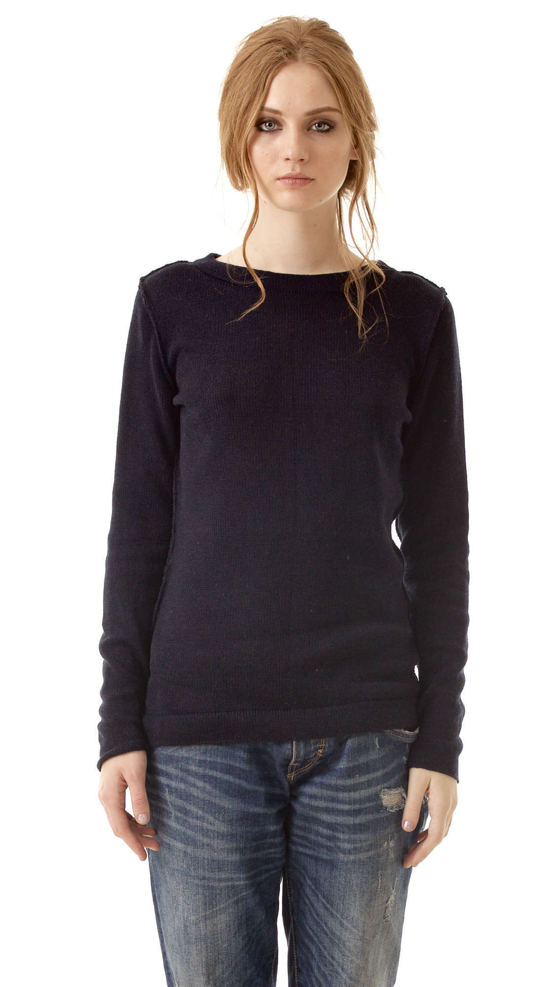 Black cashmere sweater ELSA