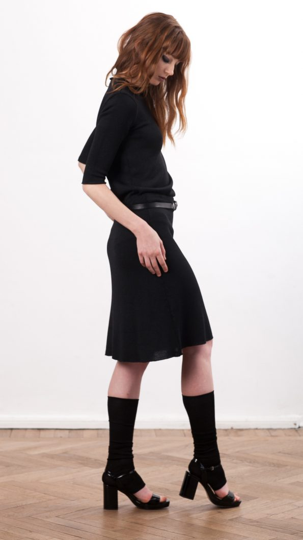 Black silk dress CLEMENCE