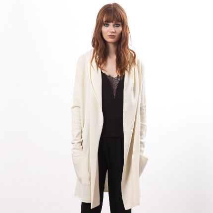 Off-white cashmere cardigan EDITH | New arrivals April 2016