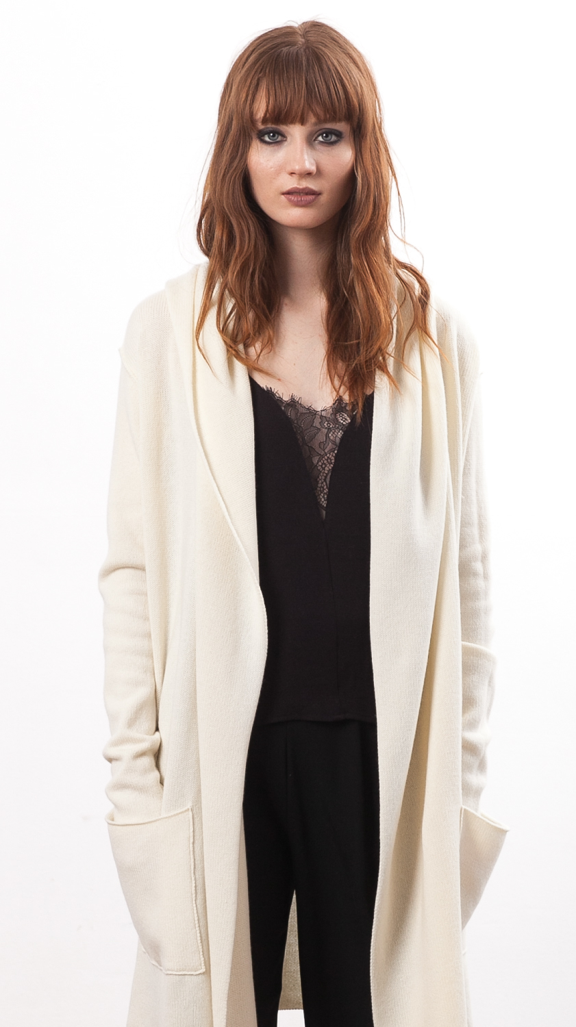 Off-white cashmere cardigan EDITH WHITE - Krista Elsta