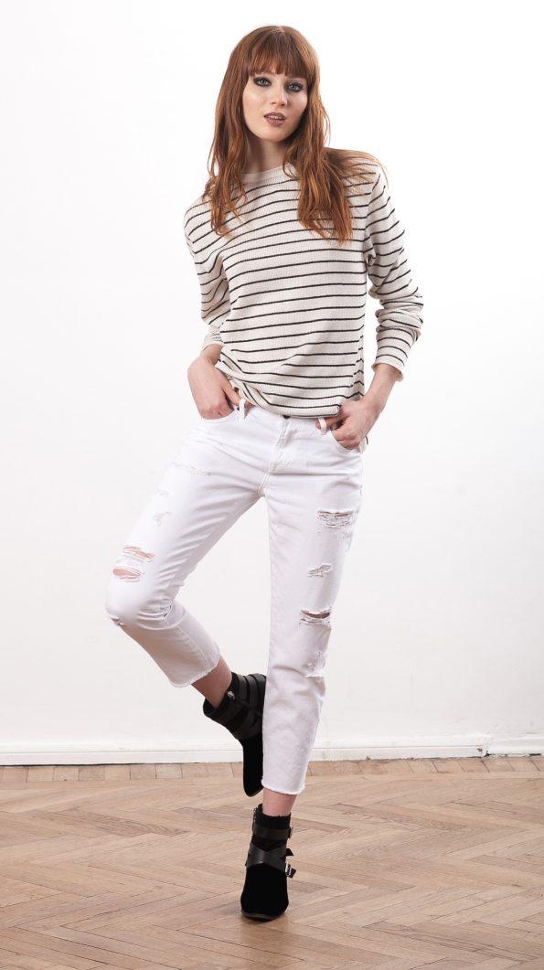Striped boyfriend sweater CLAUDE