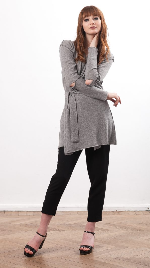 cashmere wrap cardigan womens grey black
