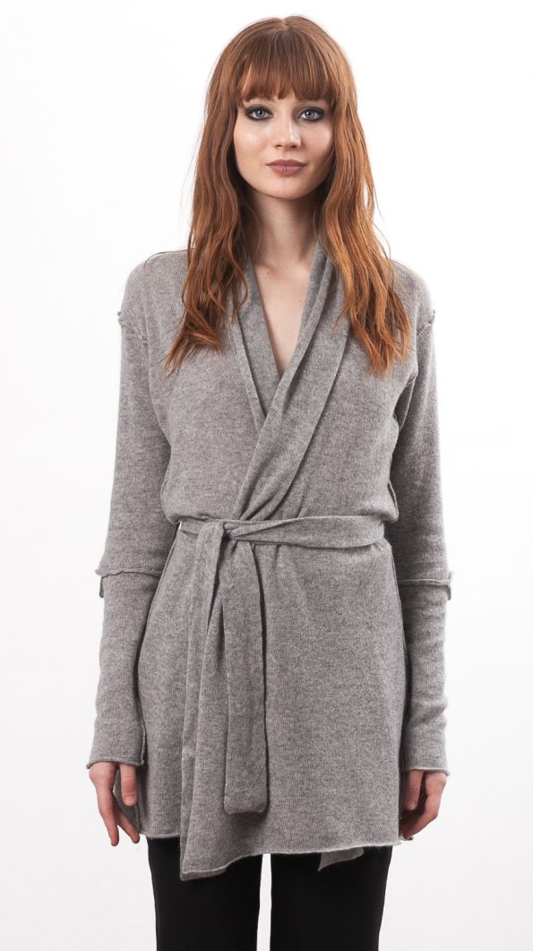long cashmere cardigan womens grey