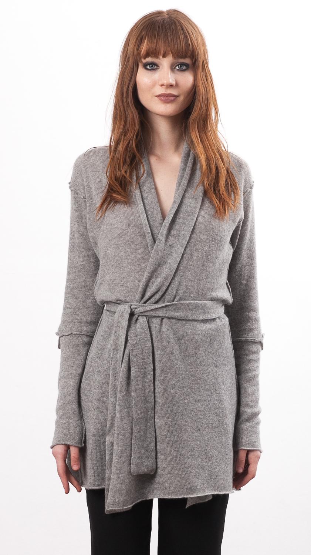 Grey cashmere wrap cardigan VANESSA GREY - Krista Elsta