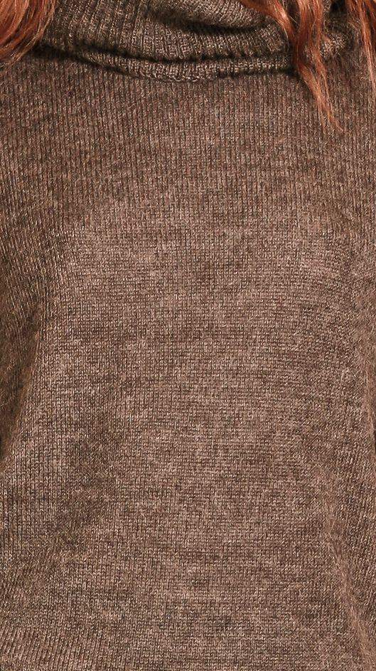 Brown alpaca womens sweater pullover ISABELLE BROWN