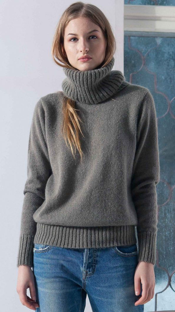 BROWN MOHAIR SWEATER ISABELLE M