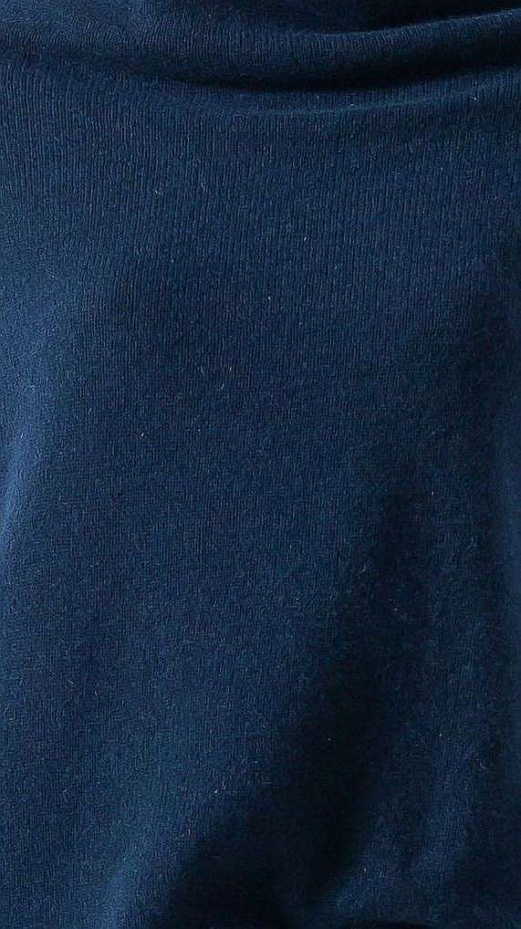 Navy cashmere off shoulder womens sweater kaschmir damen pullover AGNES NAVY