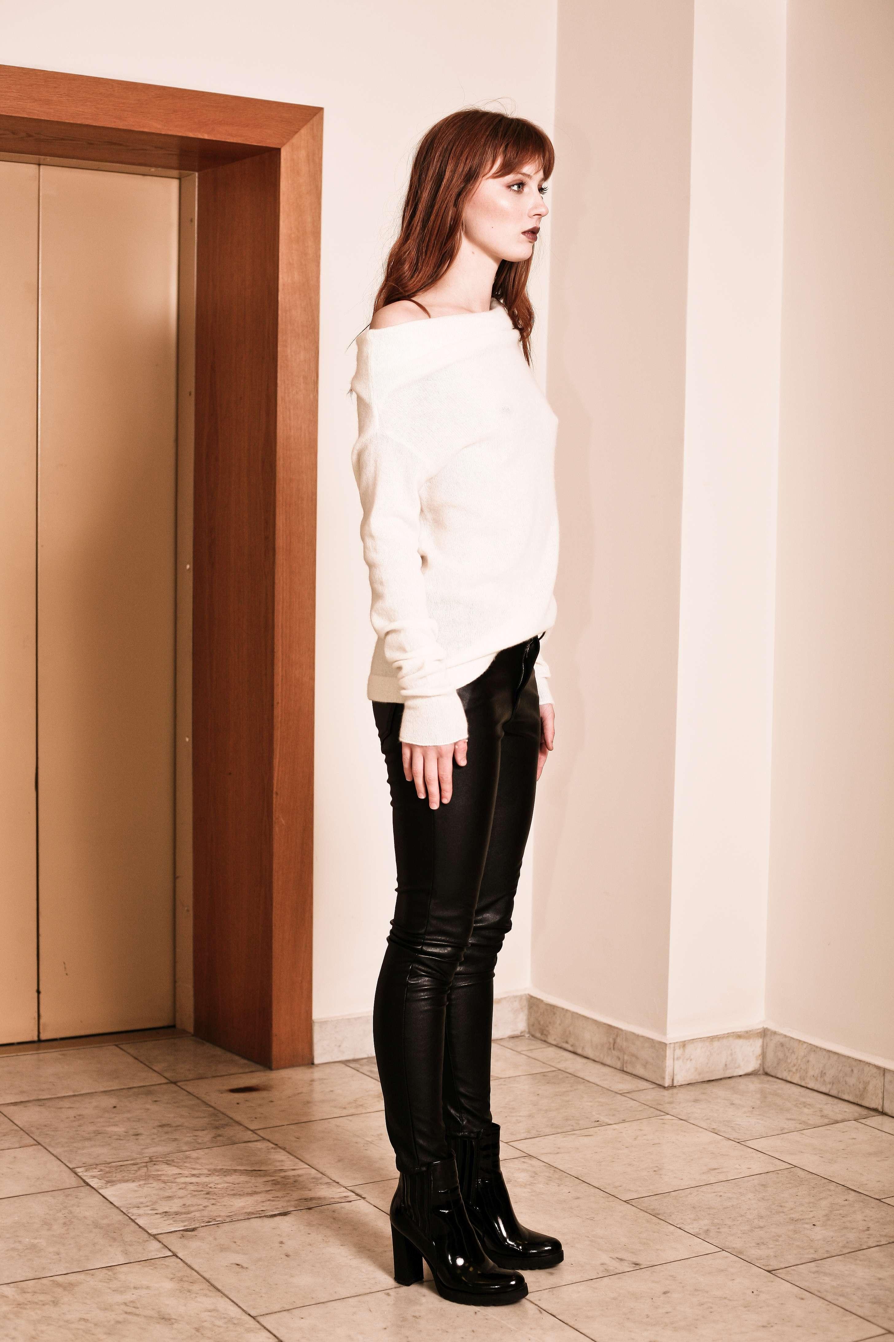 off white cashmere off shoulder sweater agnes white. Black Bedroom Furniture Sets. Home Design Ideas