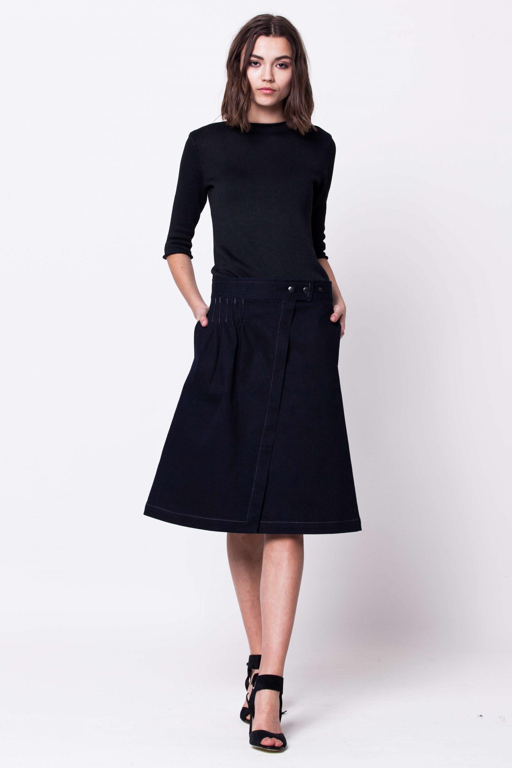 Denim A-line skirt damen rock ROBYN