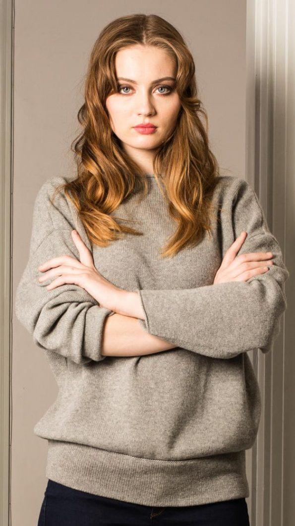 grey cashmere sweater womens